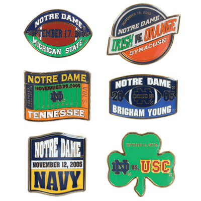 Game Day Lapel Pin 6 Pin Set