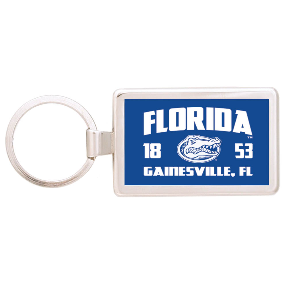 Silver Maverick Rectangular Key Tag