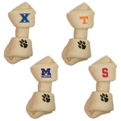 Collegiate Rawhide Dog Bone
